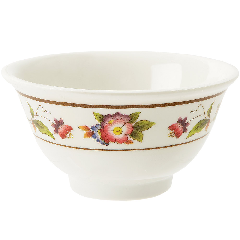 GET M-0161-TR 6 oz. Tea Rose Melamine Bowl - 24/Case