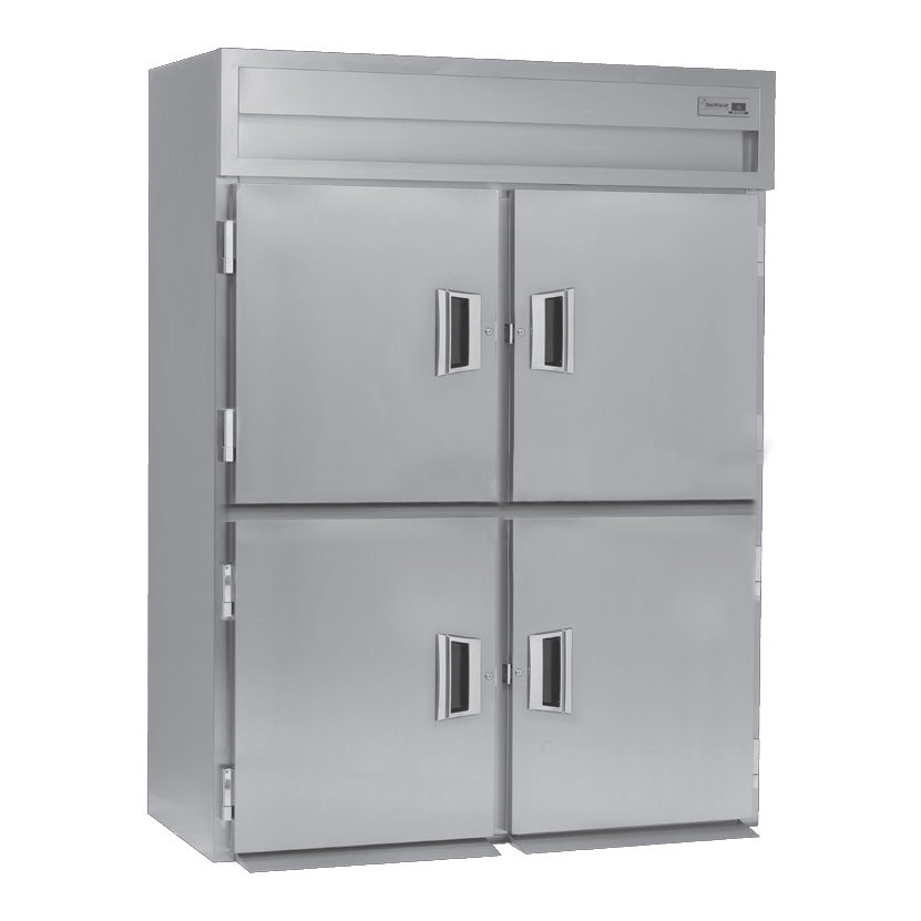 Delfield SMH2N-SH 43.94 Cu. Ft. Solid Half Door Two Section Narrow Reach In Heated Holding Cabinet - Specification Line