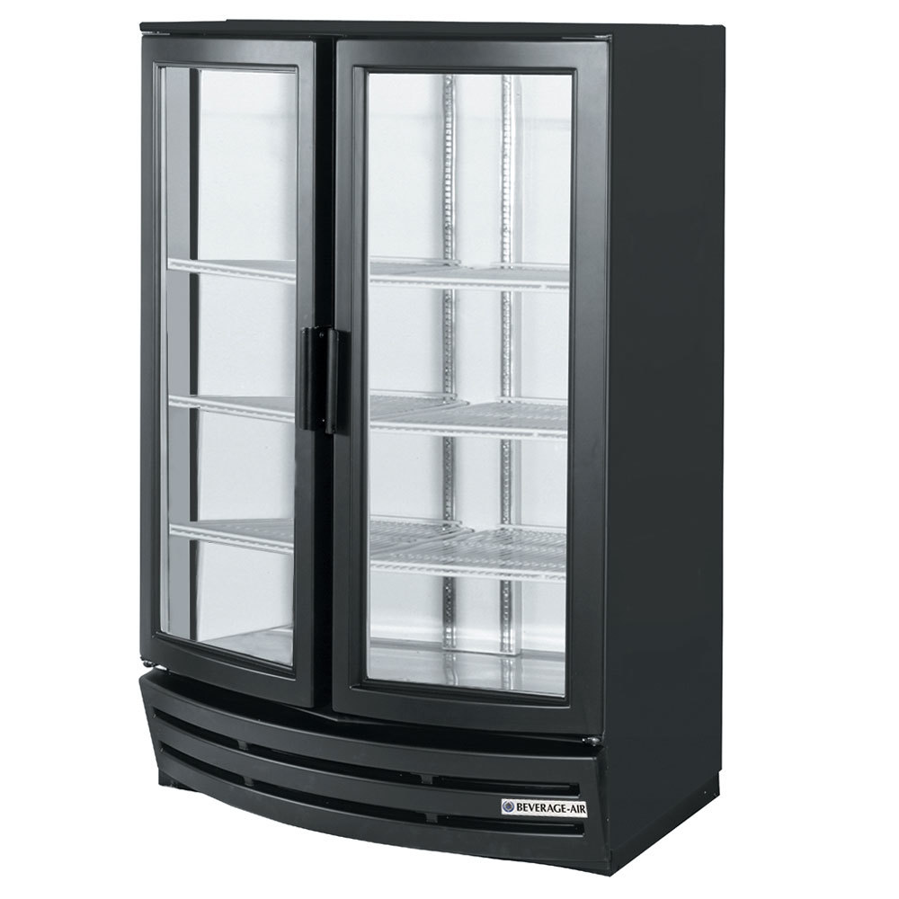 Beverage Air Mm14y 1 B W Led Black 2 Glass Curved Door