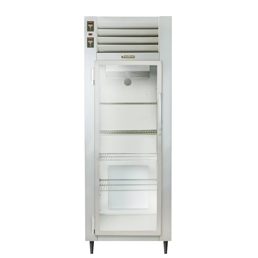 Traulsen AHT126WUT-FHG 19.1 Cu. Ft. One Section Glass Door Shallow Depth Reach In Refrigerator - Specification Line