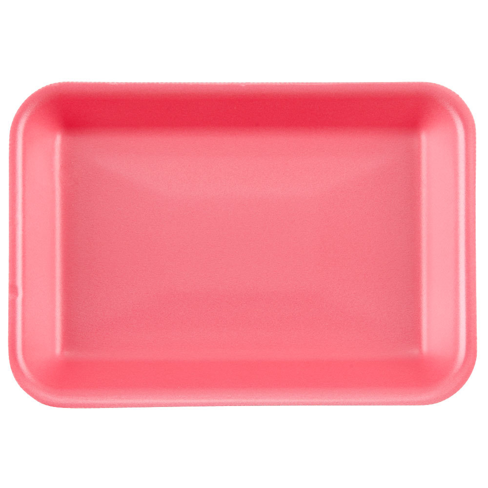 "Genpak 1002 (#2) Rose 8 1/4"" x 5 3/4"" x 1"" Foam Supermarket Tray - 500/Case"