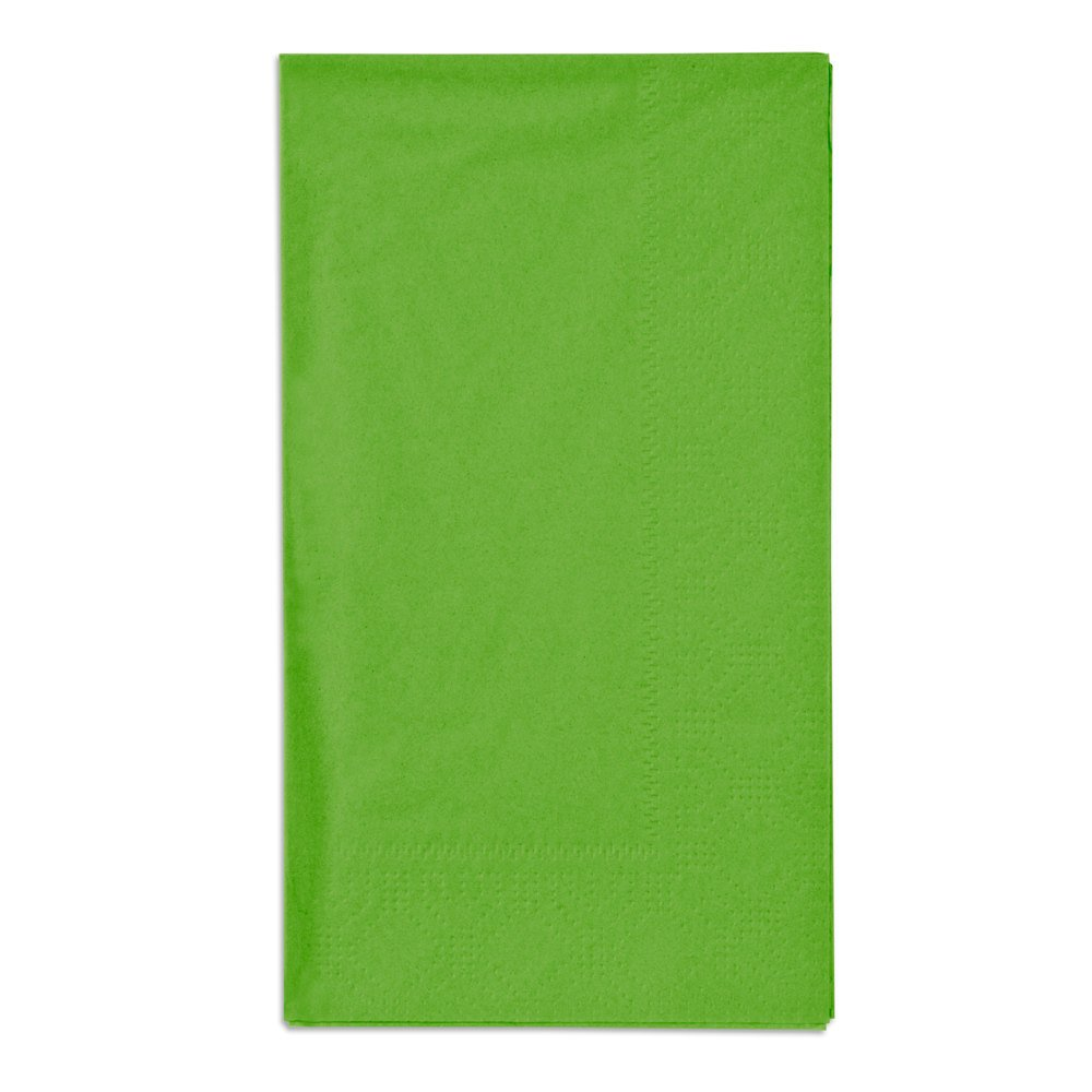 "Hoffmaster 180561 Fresh Lime 15"" x 17"" Paper Dinner Napkins 2-Ply - 125 / Pack"