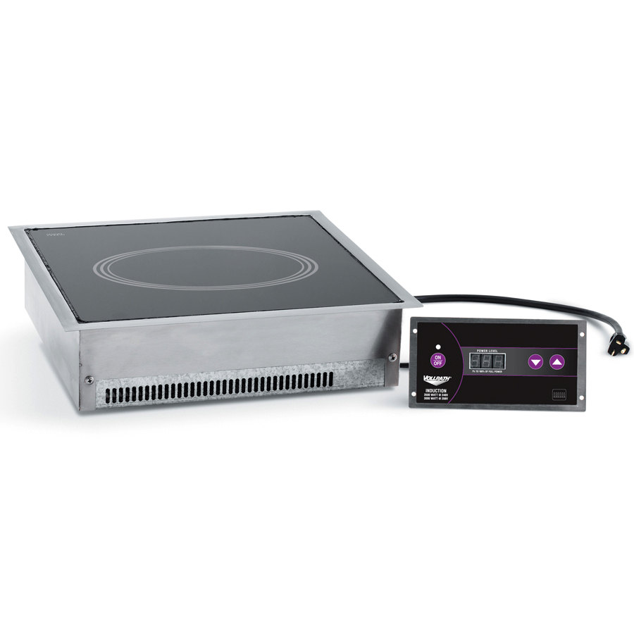 Vollrath 69505 Ultra Series Drop In Induction Cooker 3000 Watt - 208V / 3500 Watt - 240V