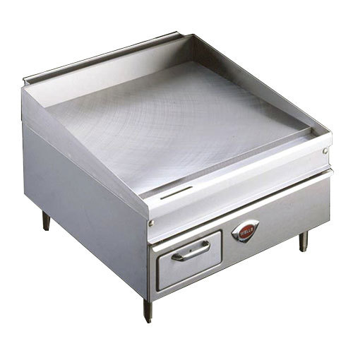 "Wells 2424G 24"" x 25"" Stainless Steel Gas Countertop Griddle - 50000 BTU"