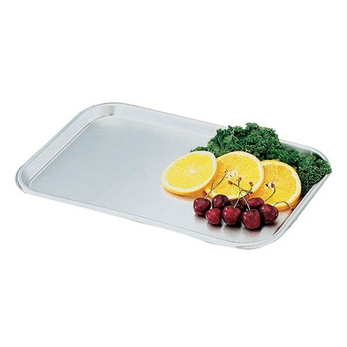"Vollrath 80130 Oblong Stainless Steel Serving / Display Tray - 13 5/8"" x 9 3/4"""