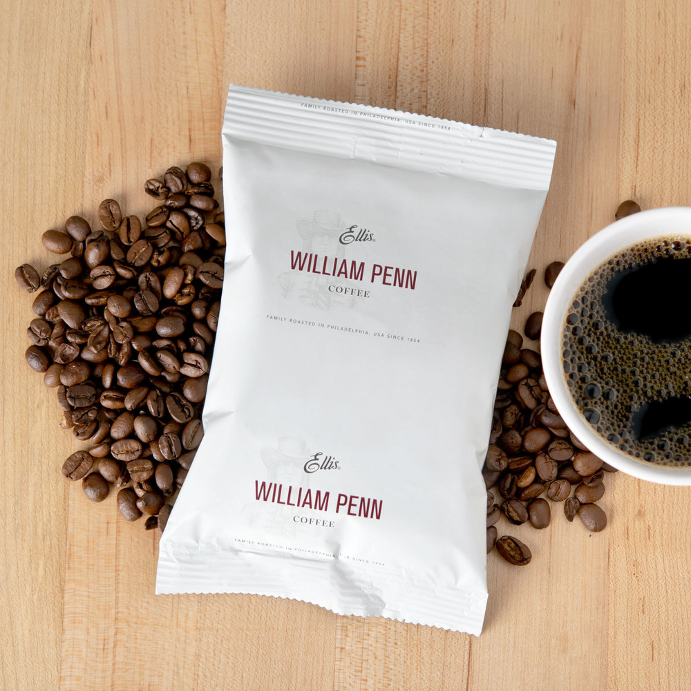 Ellis William Penn Regular Coffee - (128) 2 oz. Packets / Case - 128/Case