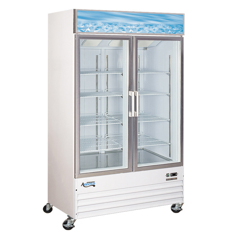Avantco GDC40F 49 inch Swing Glass Door White Merchandising Freezer