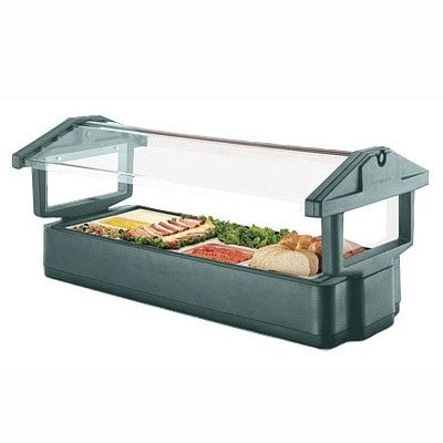 Green Cambro 4FBRTT519 Table Top 4' Food / Salad Bar with Sneeze Guard