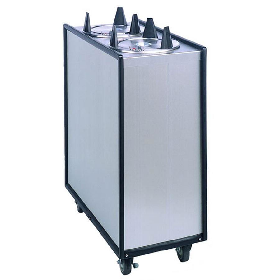 "APW Wyott Lowerator ML3-7 Mobile Enclosed Unheated Three Tube Dish Dispenser for 6 5/8"" to 7 1/4"" Dishes"