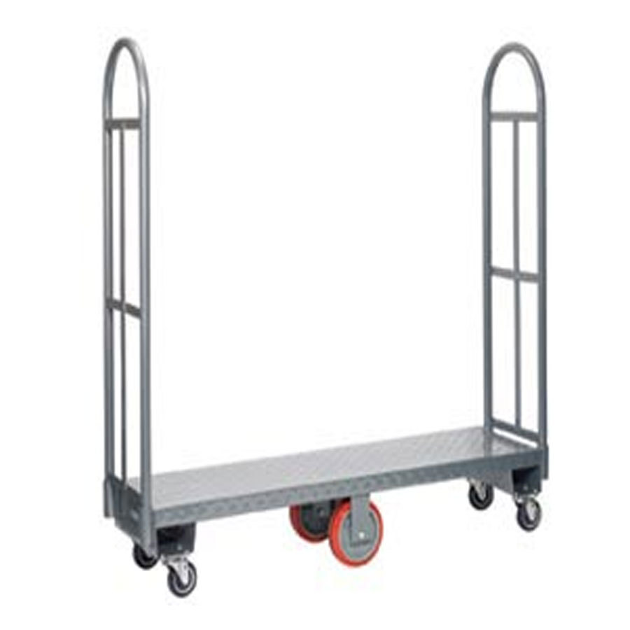 "Win-Holt 300-60D / PU U-Boat 16"" x 63"" Heavy Duty Utility Cart with Diamond Steel Deck and Polyurethane Wheels - 2000 lb. Capaci at Sears.com"