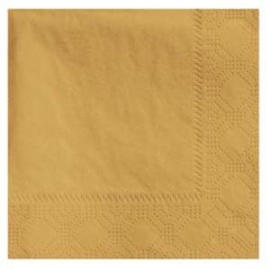 Hoffmaster 180345 Glittering Gold Beverage / Cocktail Napkin - 1000 / Case