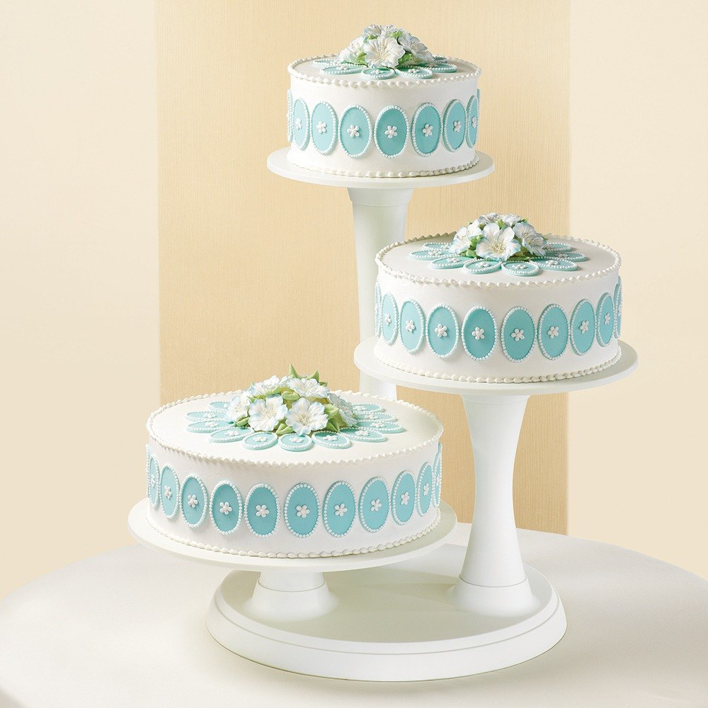 Three Tier Pillar Cake Display Stand Set