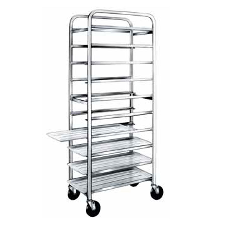 "Winholt AL-1210 End Load Aluminum Platter Cart - Ten 12"" Trays"