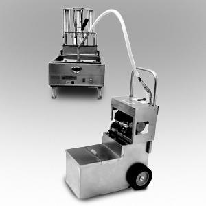 MirOil MOS 1050 105 lb. Fryer Oil Electric Filter Machine and Discard Trolley - Countertop 120V