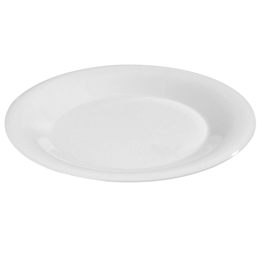 "Carlisle 3302002 5 1/2"" White Sierrus Wide Rim Bread and Butter Plate - 48 / Case"