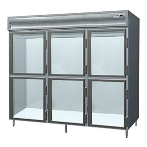 Delfield Stainless Steel SSH3-GH 78.89 Cu. Ft. Glass Half Door Three Section Reach In Heated Holding Cabinet - Specification Lin at Sears.com