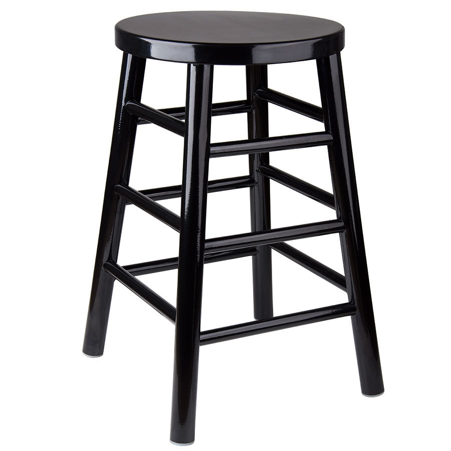 Lancaster Table Seating 24 Black Metal Woodgrain Counter Height Stool