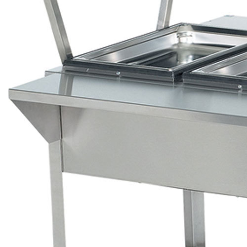 "Vollrath 38095 76"" Plate Rest for Vollrath ServeWell 5 Well / Pan Hot or Cold Food Tables"