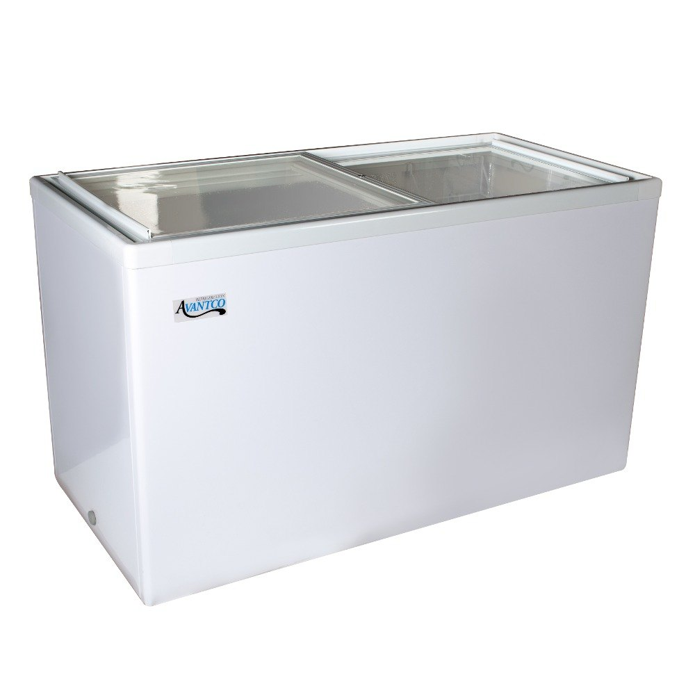 Avantco ICFF14 Flat Lid Display Freezer - 14.1 cu. ft.