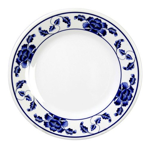 "Thunder Group 1008TB Lotus 7 7/8"" Round Melamine Plate - 12/Pack"