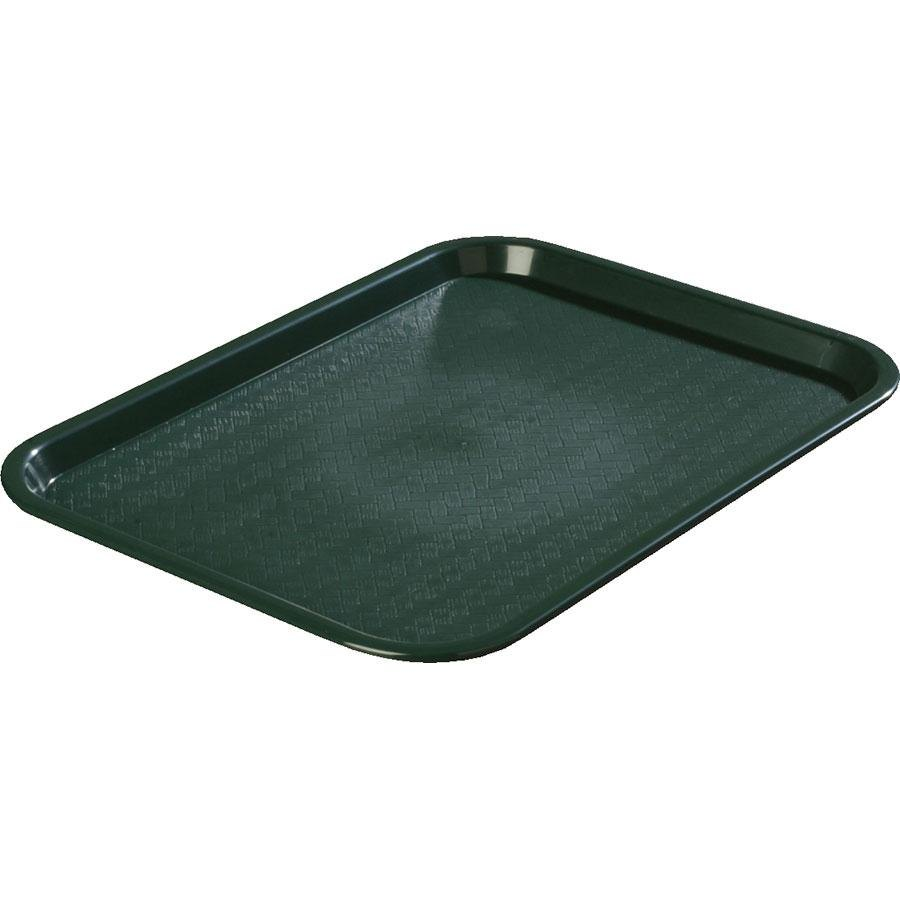 "Carlisle CT101408 Customizable Cafe 10"" x 14"" Forest Green Standard Plastic Fast Food Tray - 24/Case"