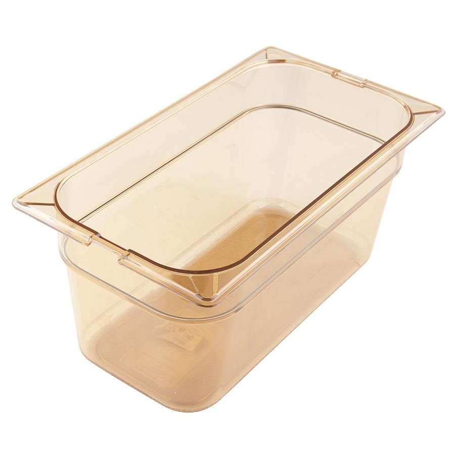 Carlisle 1046213 TopNotch 1/3 Size 6 inch Deep High Heat Food Pan - Amber