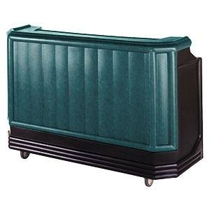 "Cambro BAR650CP421 Granite Green and Black Cambar 67"" Portable Bar with 7-Bottle Speed Rail and Cold Plate"
