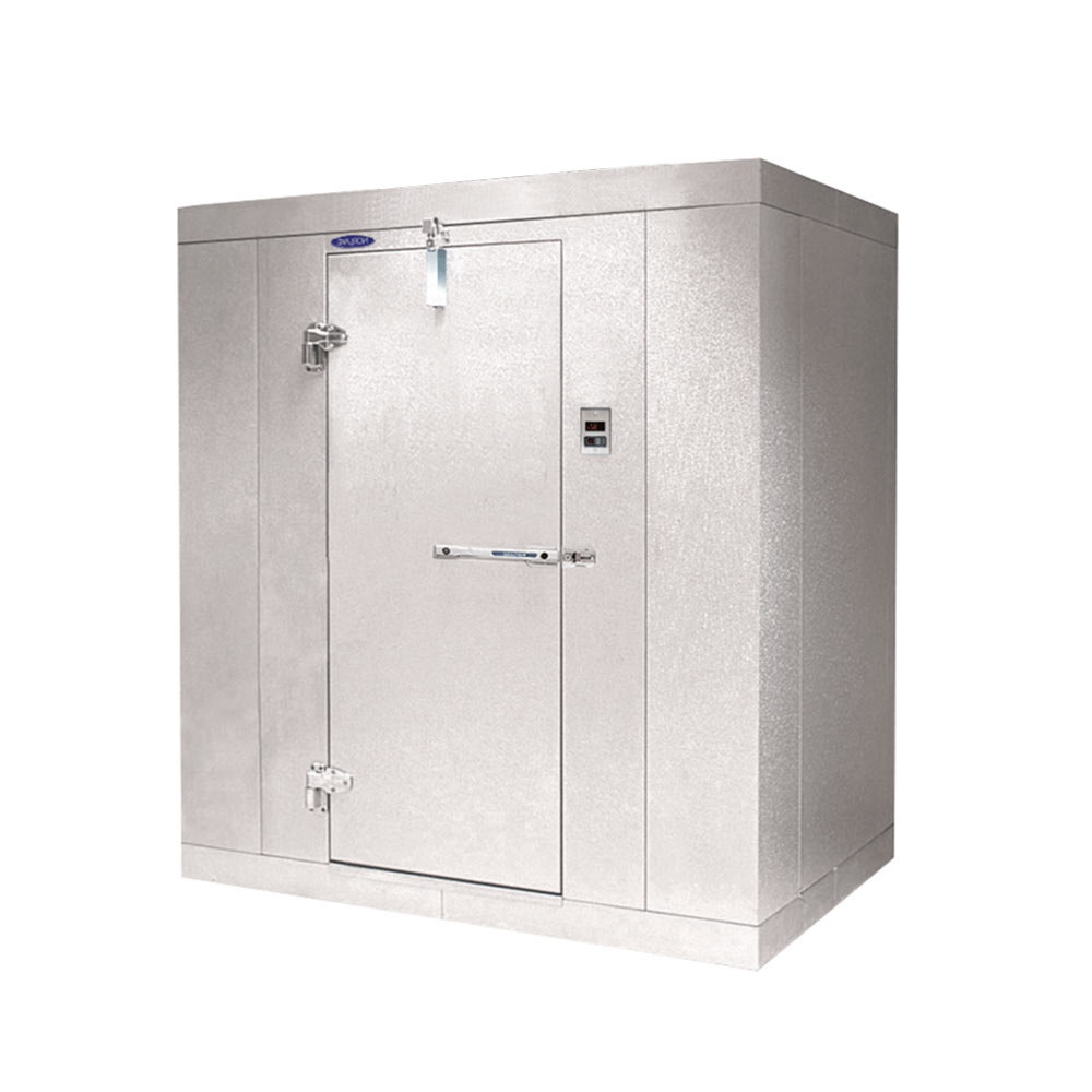 "Lft. Hinged Door Nor-Lake KL74812 Kold Locker 8' x 12' x 7' 4"" Indoor Walk-In Cooler Box without Floor"