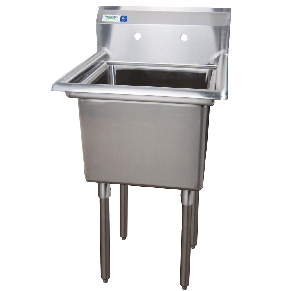 Sinks Regency 16 Gauge One Compartment Stainless Steel Commercial Sink ...