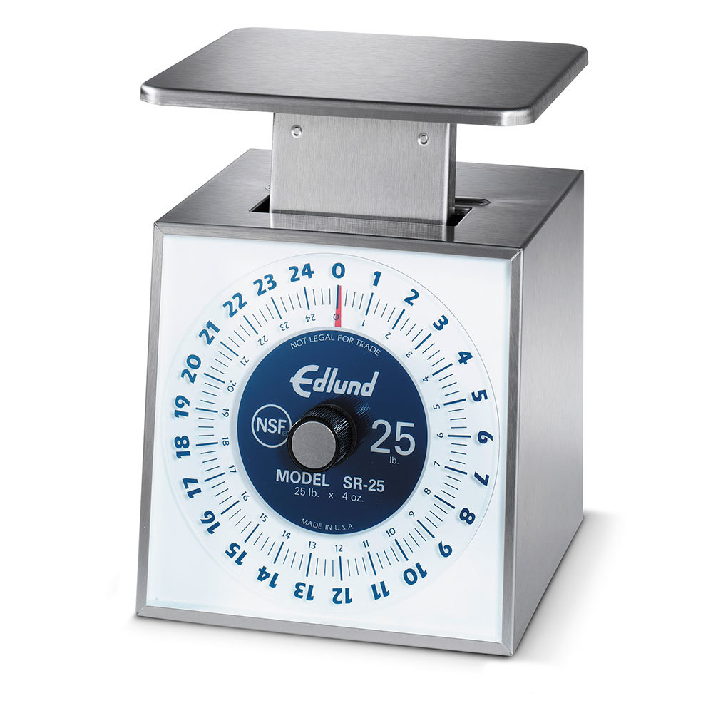 Edlund SR-25 Stainless Steel 25 lb. Mechanical Portion Control Scale