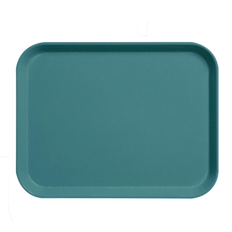 "Cambro 1520CL674 15"" x 20"" Steel Blue Camlite Tray - 12/Case"