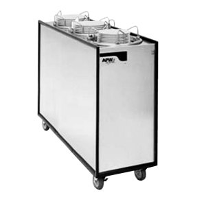 "APW Wyott Lowerator ML3-12A Mobile Enclosed Adjustable Unheated Three Tube Dish Dispenser for 9 1/4"" to 12"" Dishes"