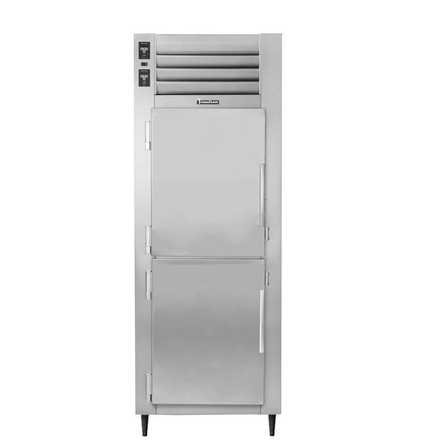 Traulsen AHT126WUT-HHS 19.1 Cu. Ft. One Section Solid Half Door Shallow Depth Reach In Refrigerator - Specification Line