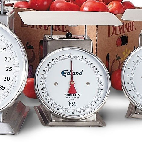Edlund HD-50 Heavy Duty 50 lb. Portion Control Scale with 10 3/4 inch x 9 1/2 inch Platform