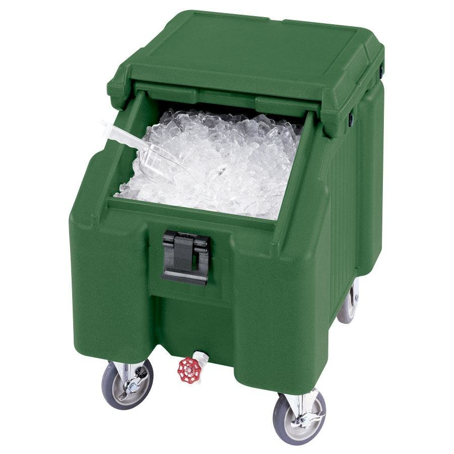 Cambro ICS100L192 Granite Green Sliding Lid Portable Ice Bin - 100 lb. Capacity