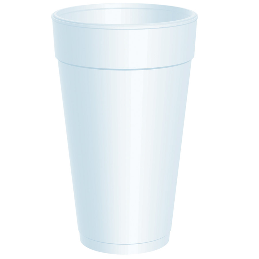 Dart 20J16 20 oz. Customizable White Foam Cup 500/Case