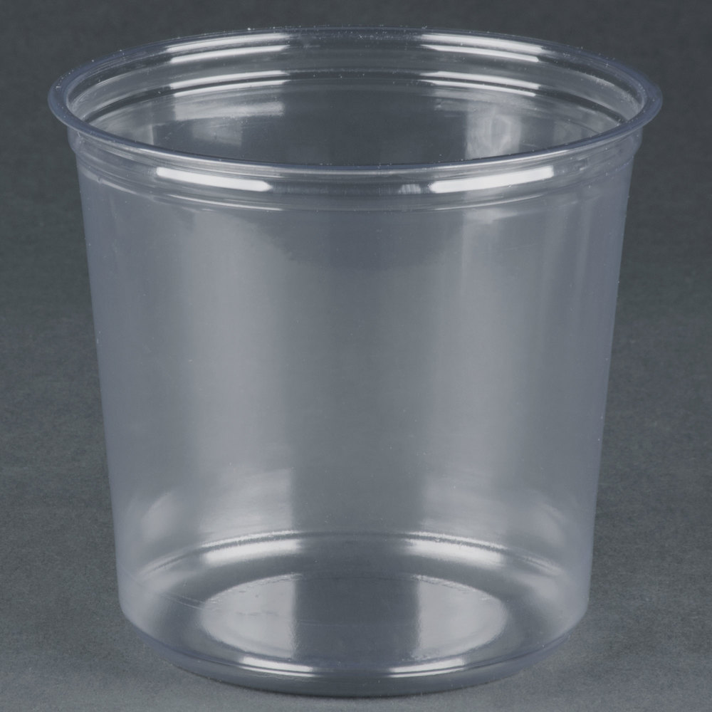 Fabri kal alur rd24 24 oz recycled customizable clear pet for Recycled plastic containers