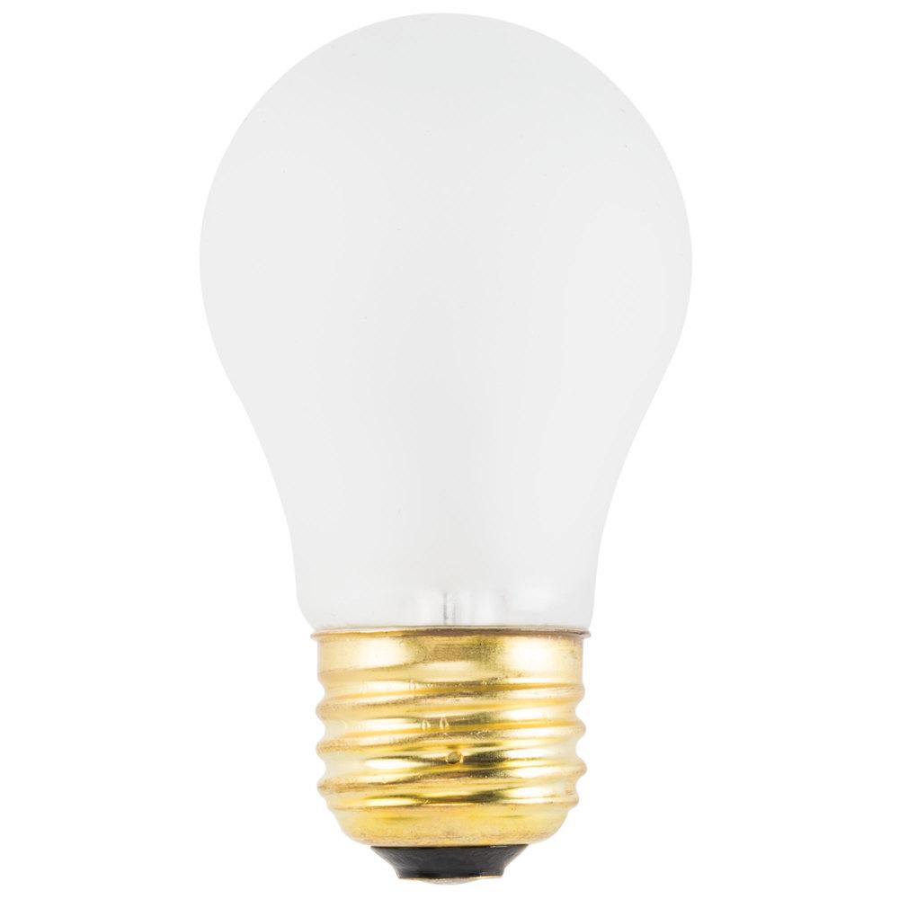 40 Watt Teflon Coated Appliance Light Bulb 2 Pack A15 130v