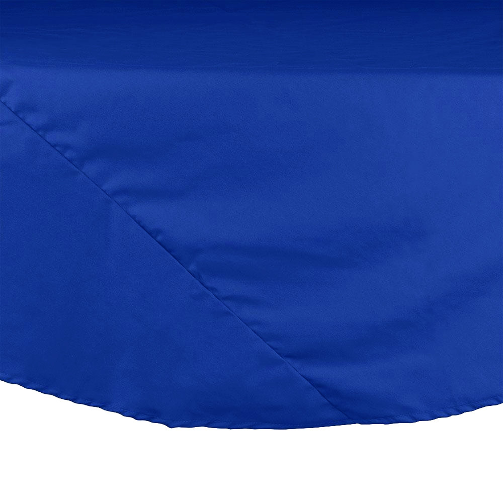 "64"" Royal Blue Round Hemmed Polyspun Cloth Table Cover"