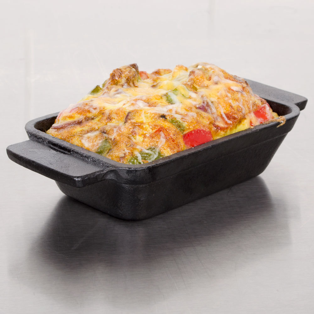 "American Metalcraft CIPRT5336 5 1/2"" x 3 1/2"" Rectangular Cast Iron Mini Pot"