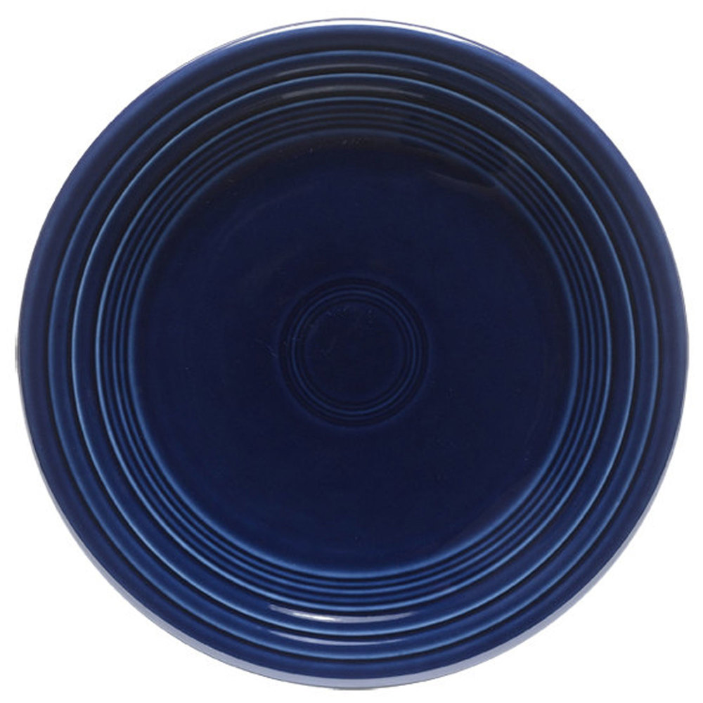 "Homer Laughlin 465105 Fiesta Cobalt Blue 9"" Luncheon Plate - 12 / Case"