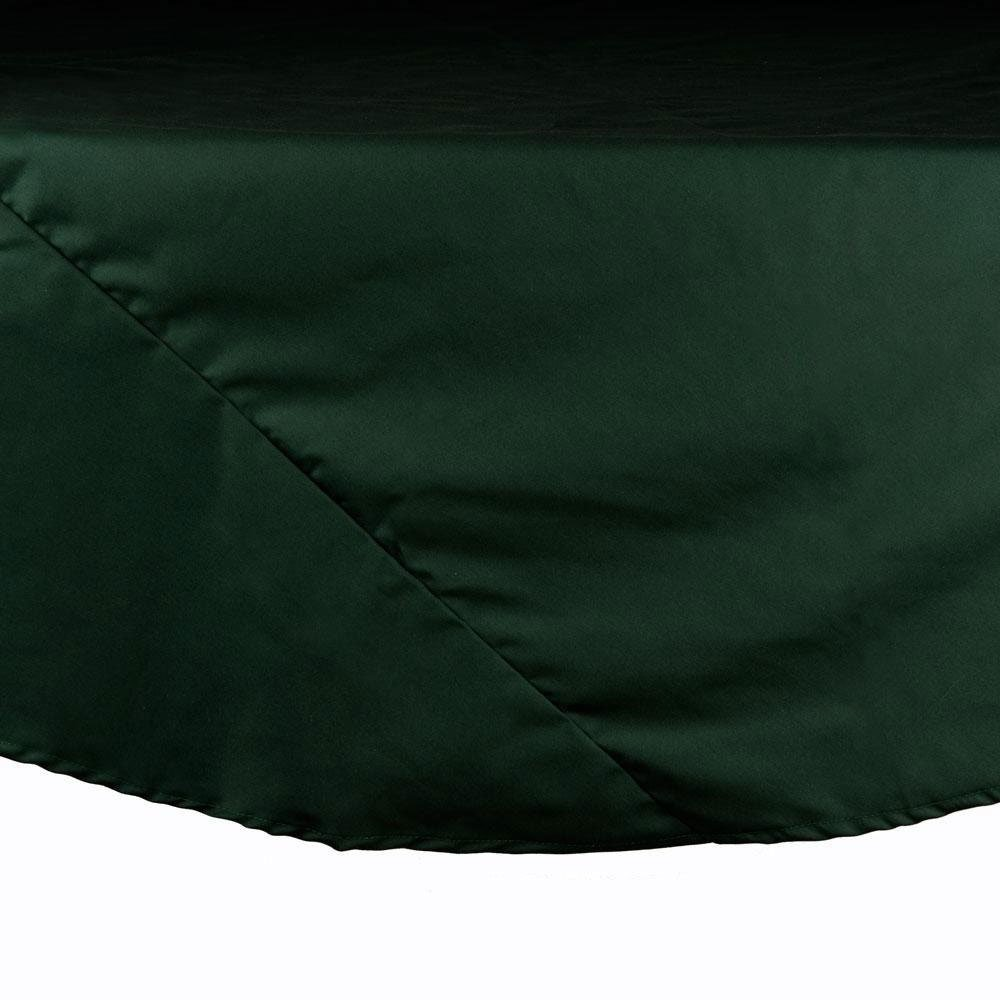 "90"" Forest Green Round Hemmed Polyspun Cloth Table Cover"