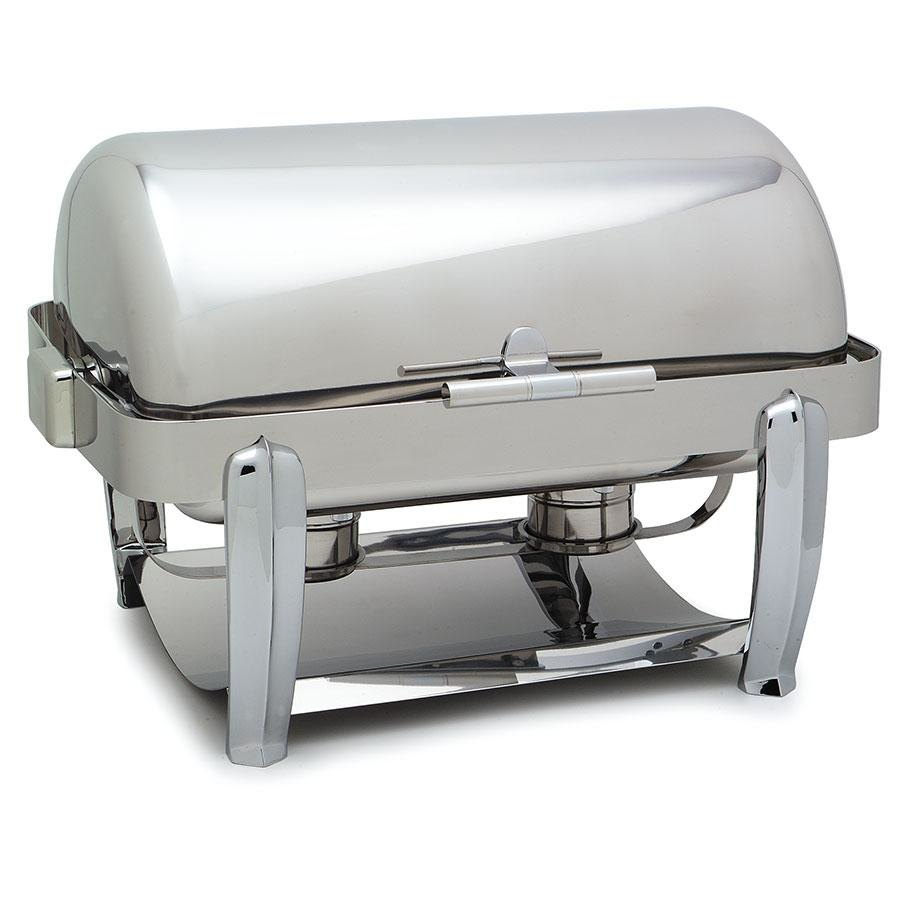 Carlisle 609721 Aspen 8 Qt. Rectangle Roll Top Stainless Steel Chafer