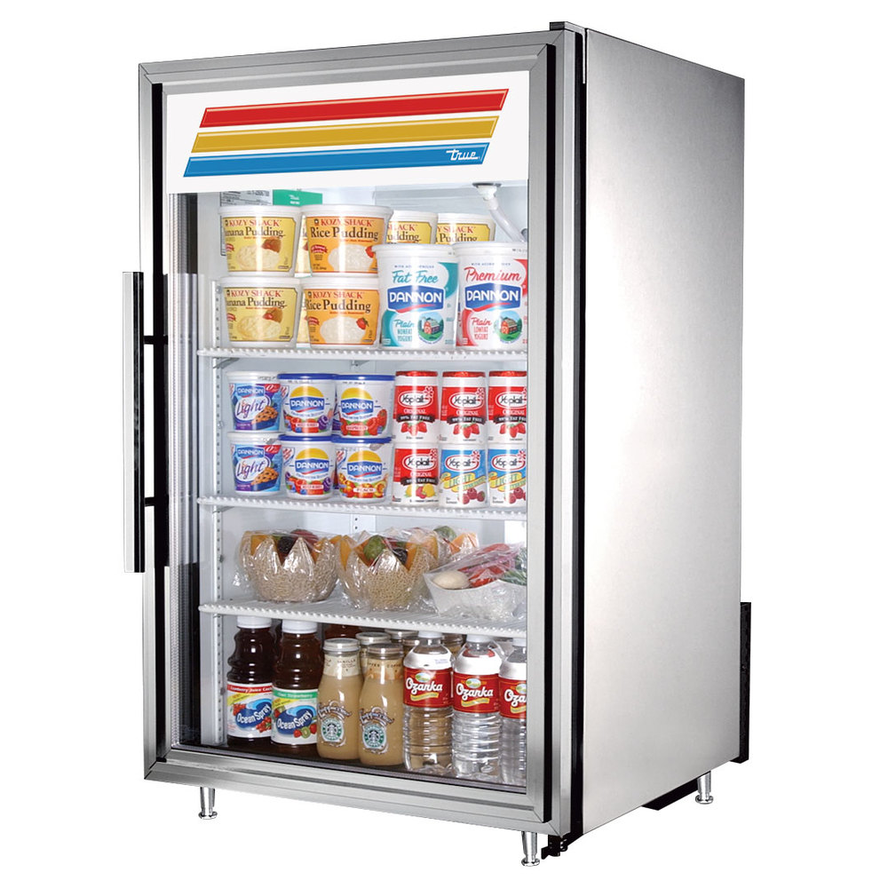 ... LD Stainless Steel Countertop Glass Door Refrigerator - 7 Cu. Ft