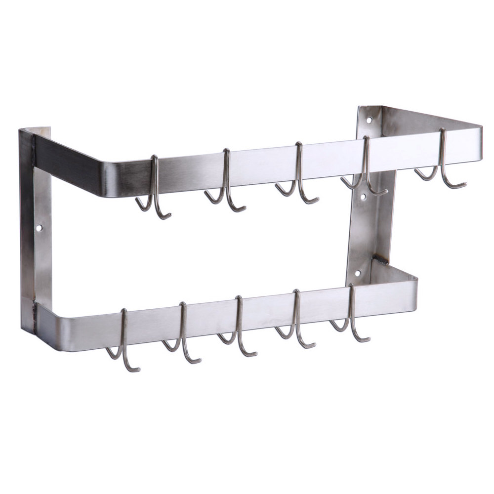 Regency 24 Quot Wall Mounted Commercial Double Line Stainless