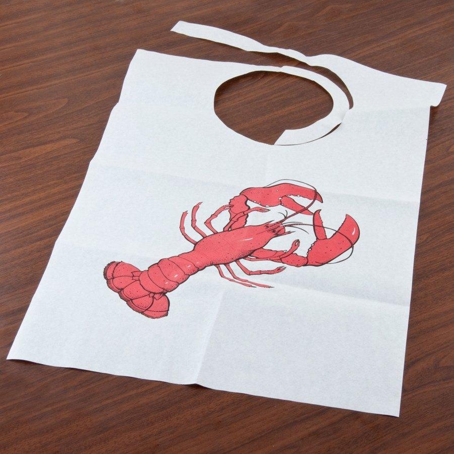Disposable paper bibs