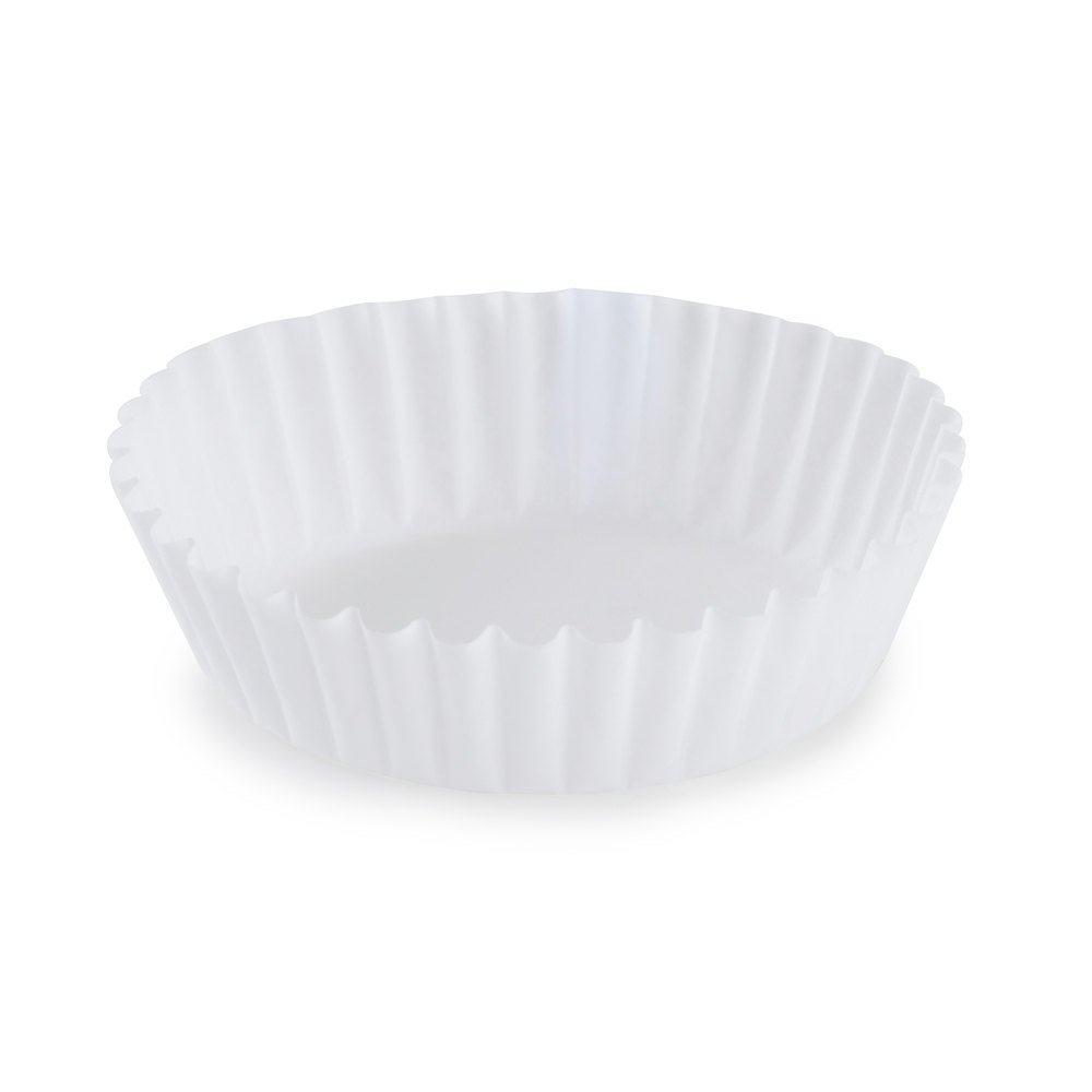 "White Fluted Baking Cup 1 3/4"" x 5/8"" - 10,000/Case"
