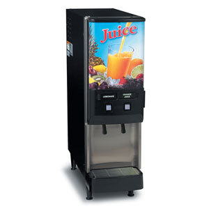 Bunn JDF-2S 2 Flavor Cold Beverage Juice Dispenser with Dual Dispense - 120V (Bunn 37900.0025)
