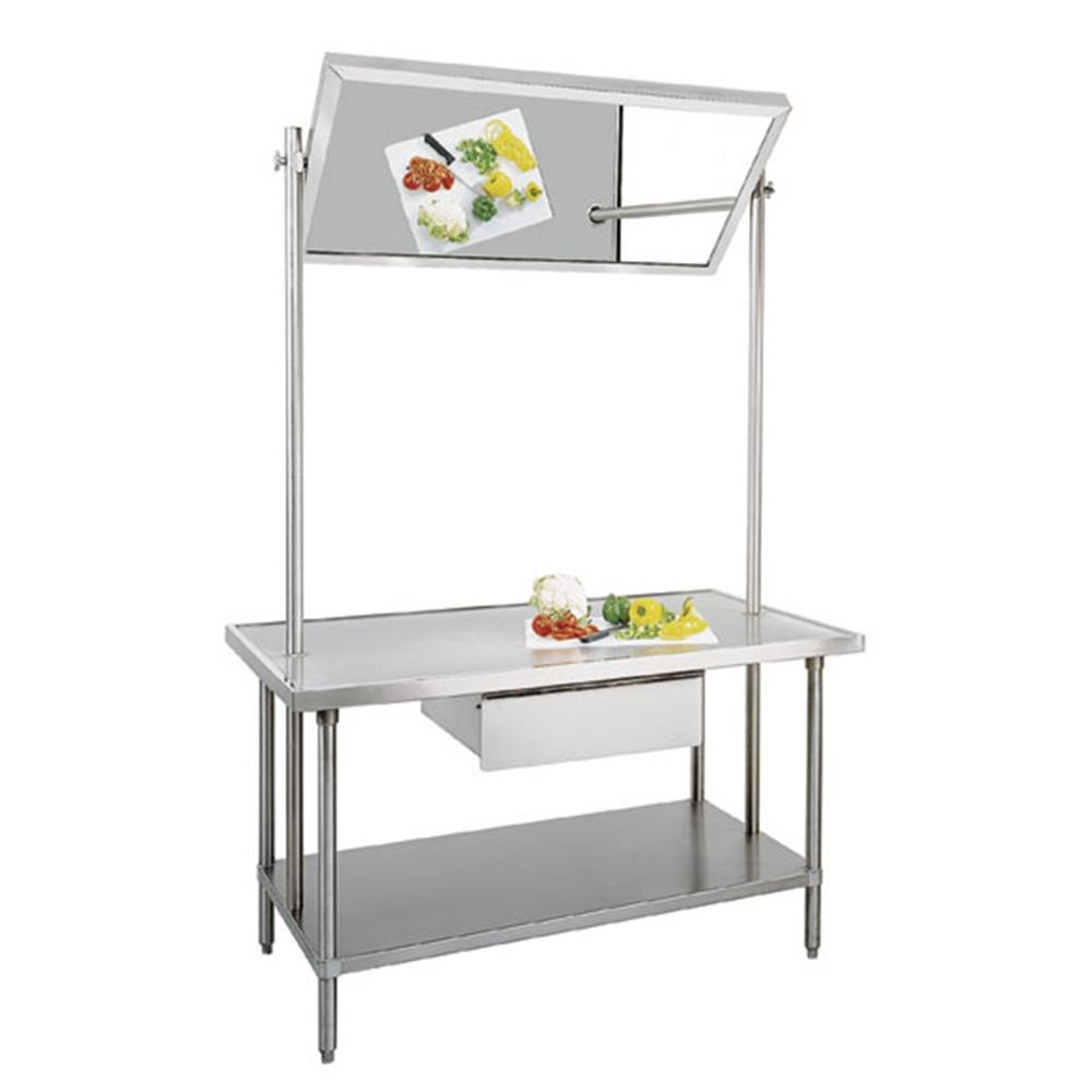 Advance Tabco VSS-DT-365 Stainless Steel Demo Table with Mirror