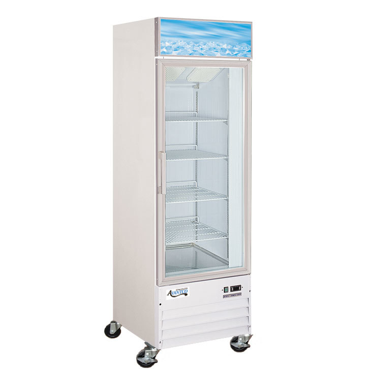 Avantco GDC12F 27 inch Swing Glass Door White Merchandising Freezer